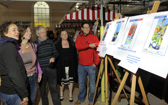 Voting For BBC Banner Designs At Bideford Pannier Market