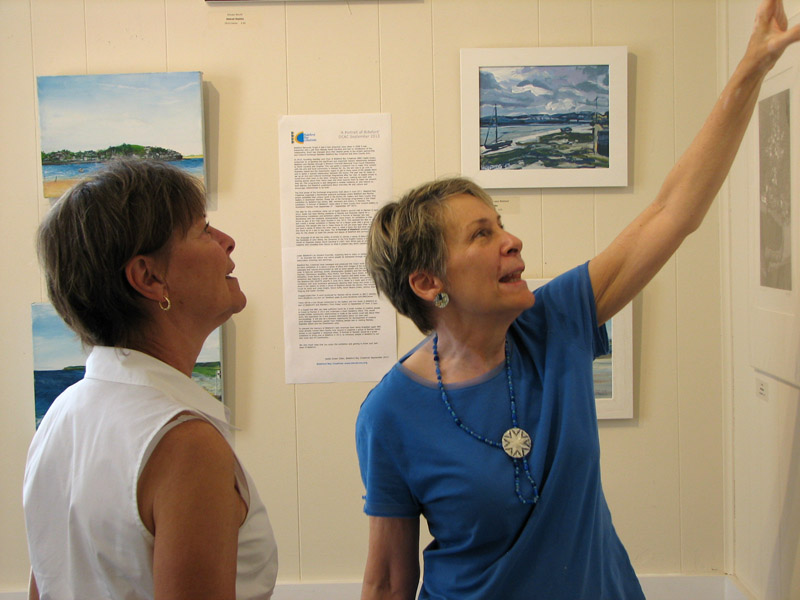 The photo is of two of our most prominent artists enjoying the BBC work. They really were impressed! - Fay Davis Edwards