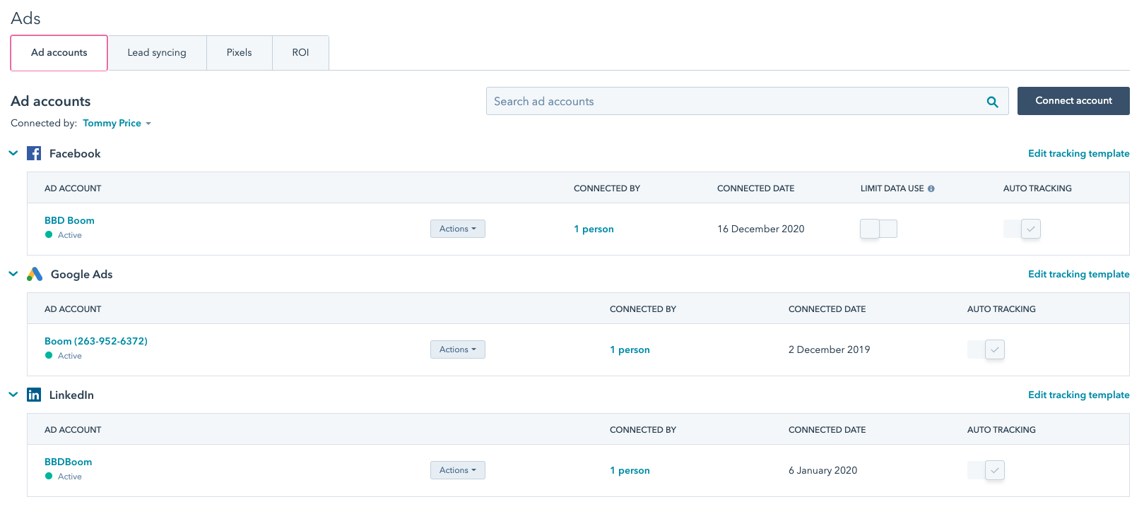 How do I connect paid channels to HubSpot?