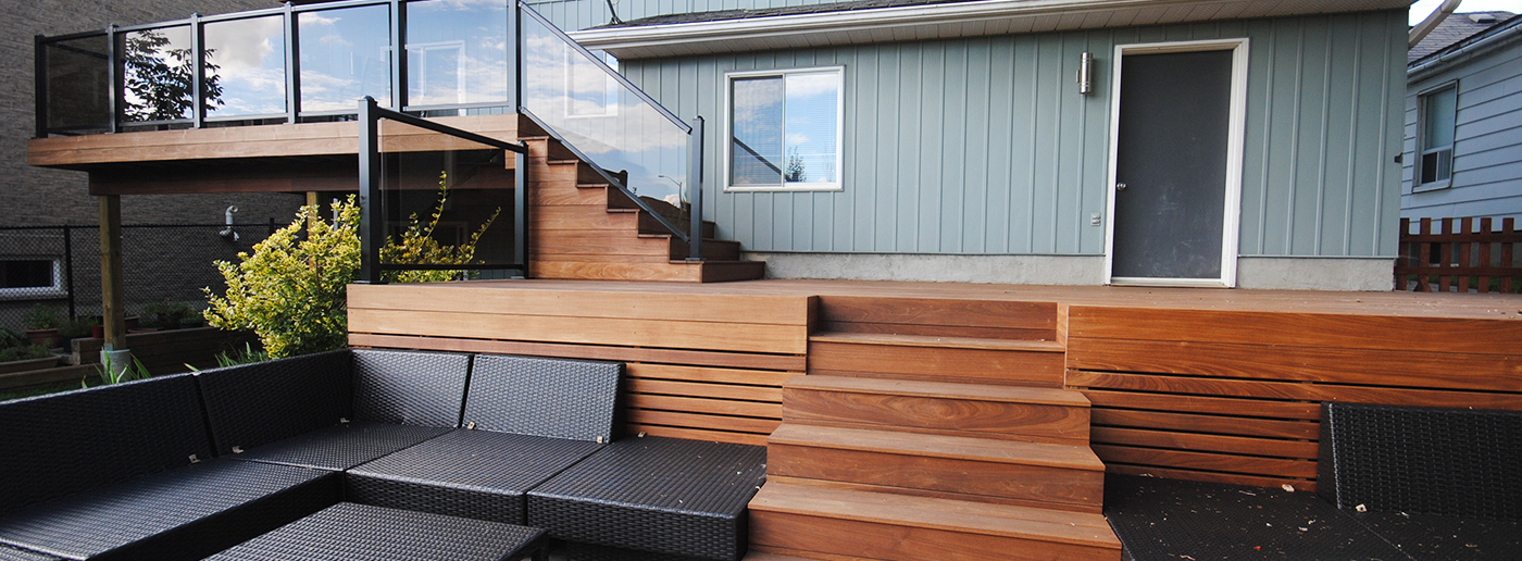 iron rod deck stairs beaver brothers deck builder toronto