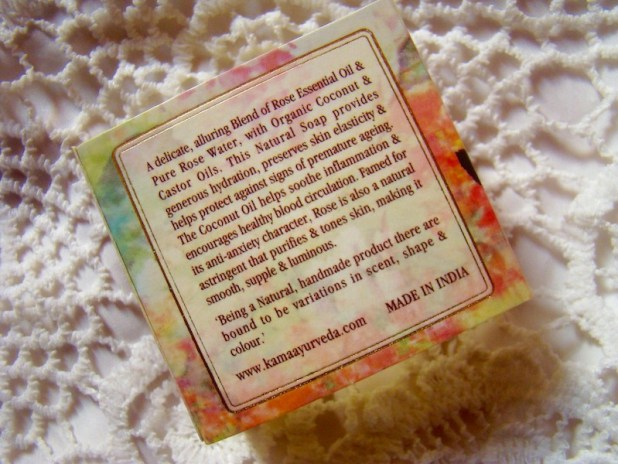 Kama Ayurveda Rose, Orange & Cinnamon Soap Review Price Photos