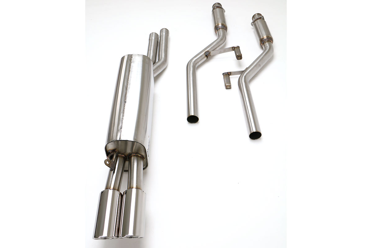 BMW E28 528 535 Cat Back Exhaust System (Round Tips) #FBMW