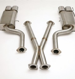 nissan 300zx twin turbo cat back exhaust system 2 1 2 oval tips fpim 0035  [ 1200 x 800 Pixel ]
