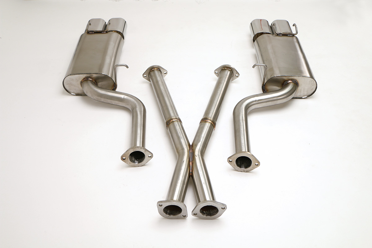 hight resolution of nissan 300zx twin turbo cat back exhaust system 2 1 2 oval tips fpim 0035