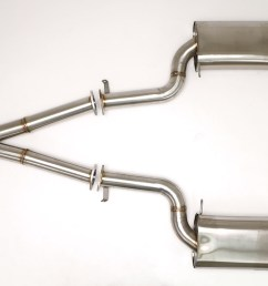 nissan 300zx twin turbo cat back exhaust system 3 oval tips fpim 0040  [ 1200 x 800 Pixel ]