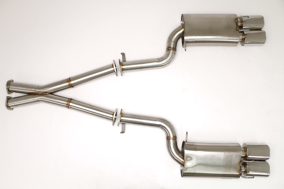hight resolution of nissan 300zx twin turbo cat back exhaust system 3 oval tips fpim 0040