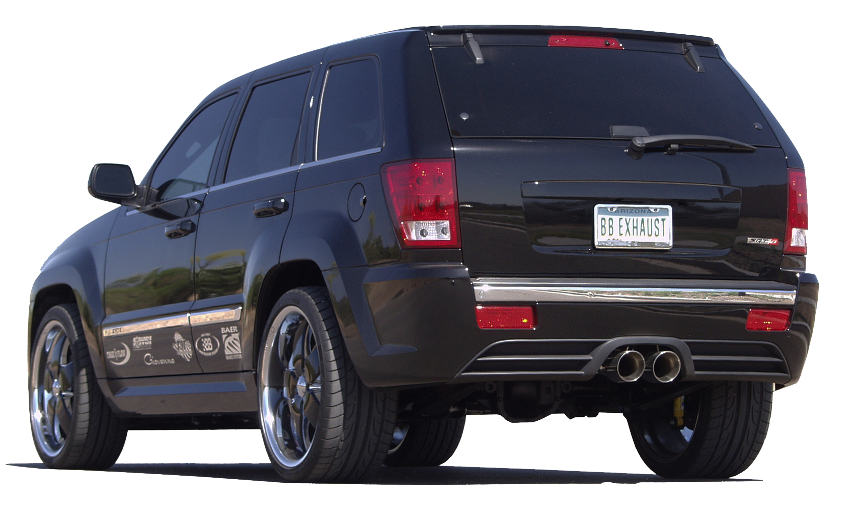 jeep grand cherokee srt8 cat back exhaust system round tips ftru 0310