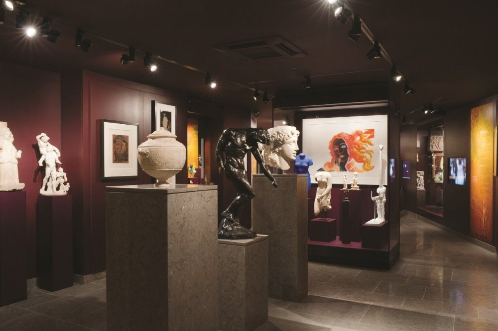 General view of the 'Gods & Godesses - Social Customs' gallery © Musée d'Art Classique de Mougins (MACM) 2016 - christian levett