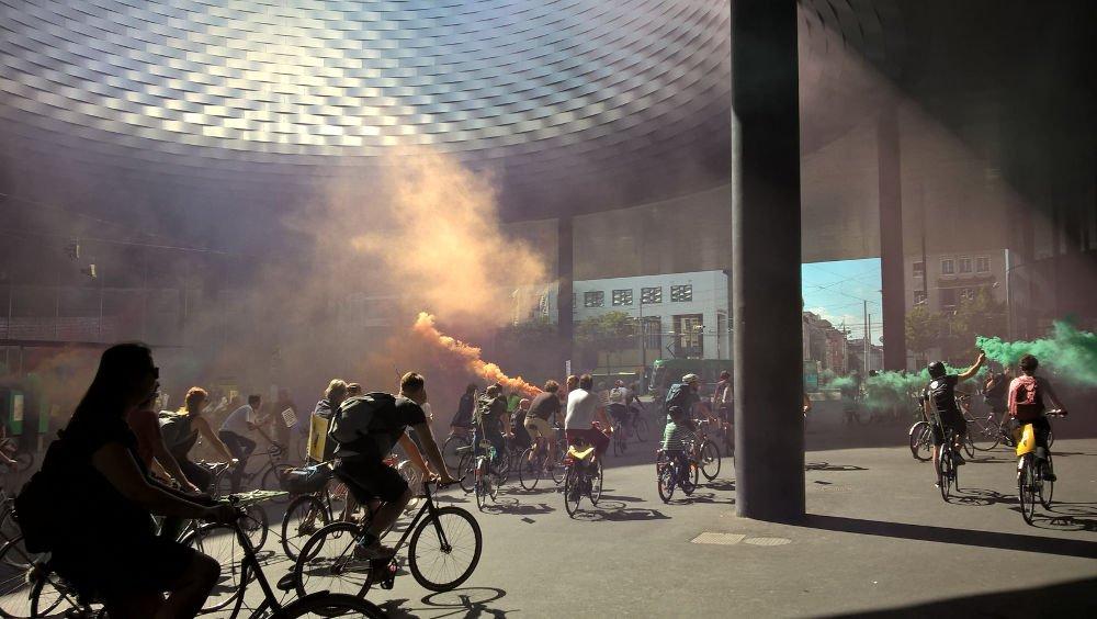 grand basel cyclist demonstration