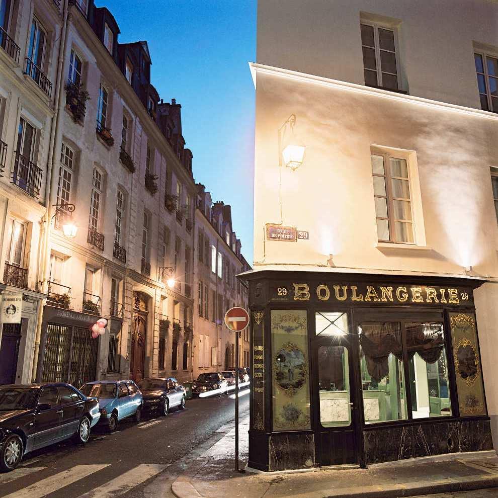 Hotel du Petit Moulin boulangerie exterior