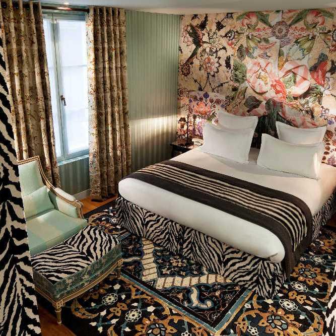 Hotel du Petit Moulin deluxe room zebra