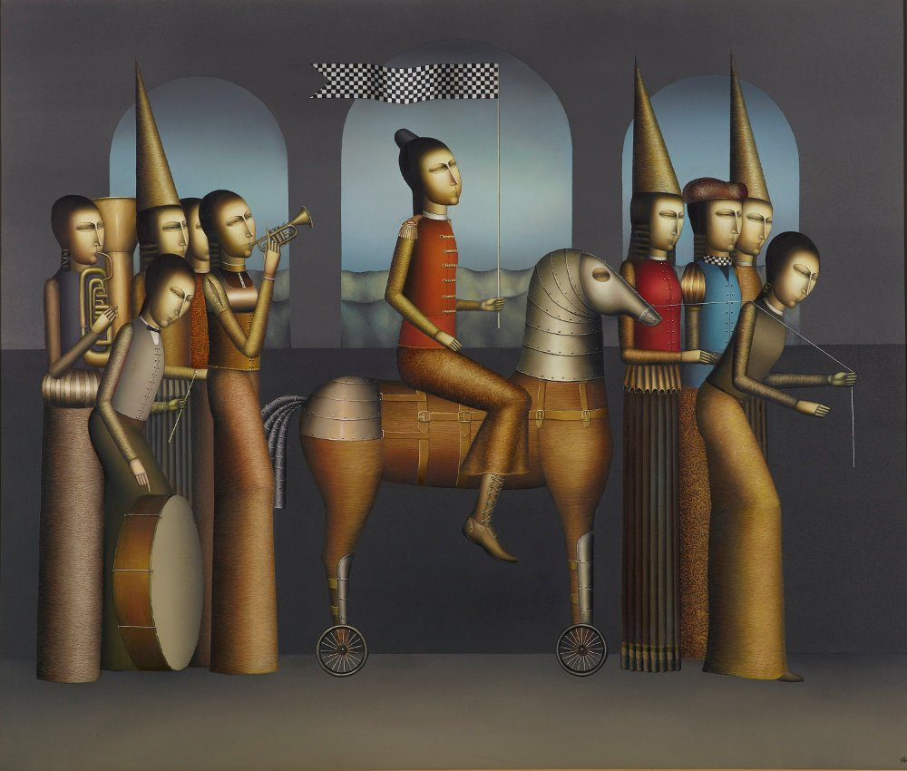 erol-tabanca-collection-Armen-GevorgianThe-Parade-2014-Oil-on-Canvas-145x170cm-Photo-by-Ozan-Çakmak