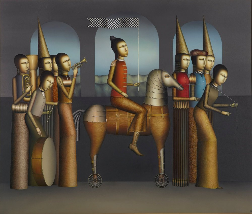 erol-tabanca-collection-Armen-GevorgianThe-Parade-2014-Oil-on-Canvas-145x170cm-Photo-by-Ozan-Çakmak