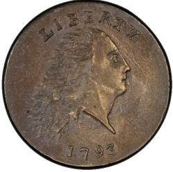 1793 Flowing Hair Chain Cent rare united states coin