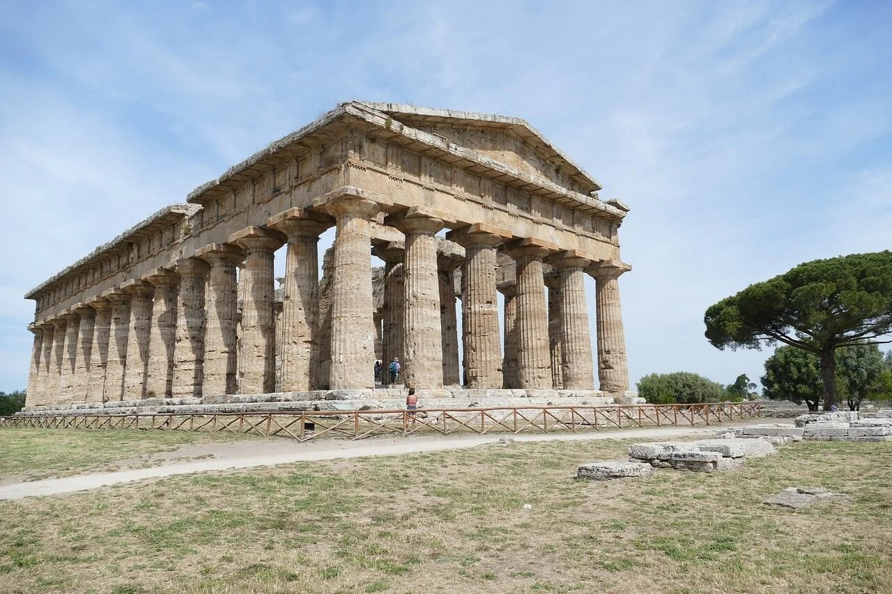 hight resolution of paestum archaeological site