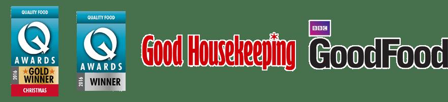 Q award winner 2016, Good Housekeeping winner, BBC GoodFood award