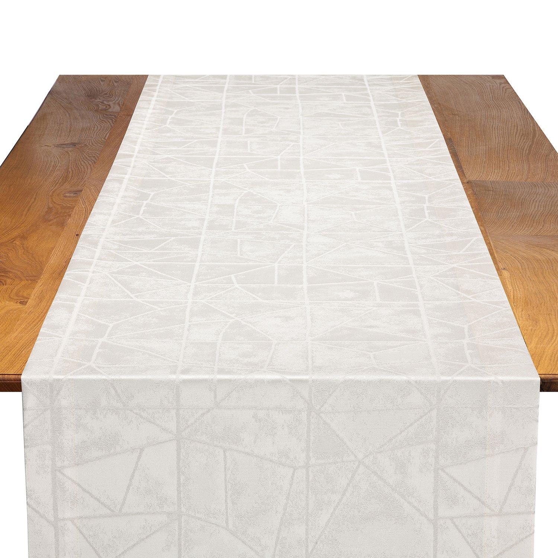 pearl entangled table runner linen