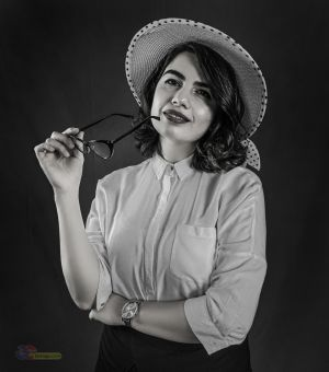Klasik siyah beyaz fotograf