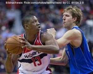 Kevin Seraphin Dirk Nowitzki Dallas Mavericks Washington Wizards