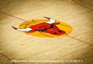 Chicago Bulls - Logo auf Hallenboden