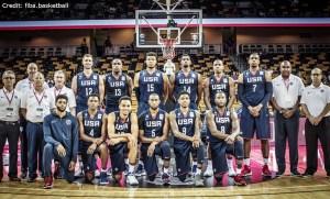 FIBA WM-Qualifikation - USA - Teamfoto