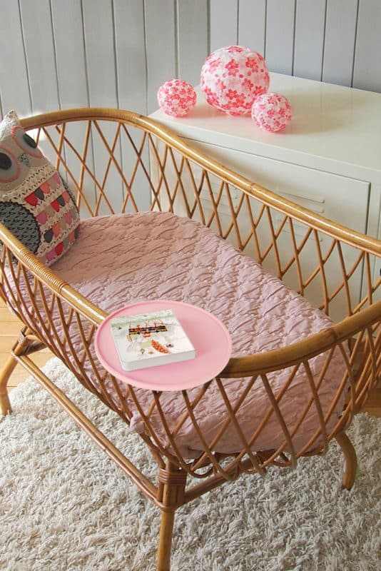 bbnove e-shop puériculture design - concept store made in france pour bébés Table de chevet Tab rose bbnove