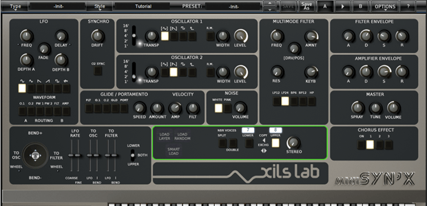 XILS-lab Announces Availability of Syn'X 2 - Polytimbral Virtual Analog Synthesizer Plug-in