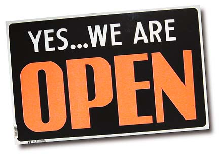 Yes we're open sign for MXR cover.