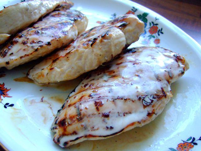Brined Chicken with White Sauce