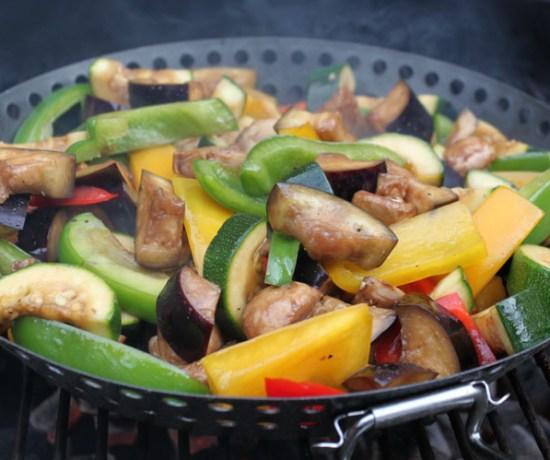 Gemengde groenten van de barbecue