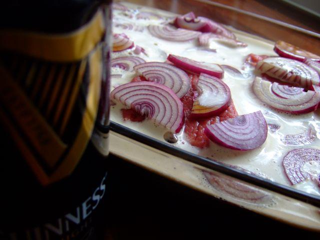 Guinness Biefstuk Sandwich - marineren