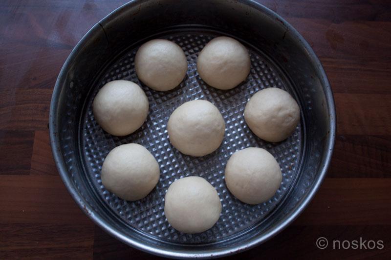 Breekbrood - de bolletjes voor de tweede rijs