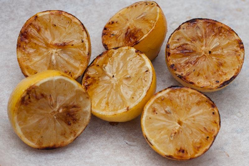 Gegrilde citroenen