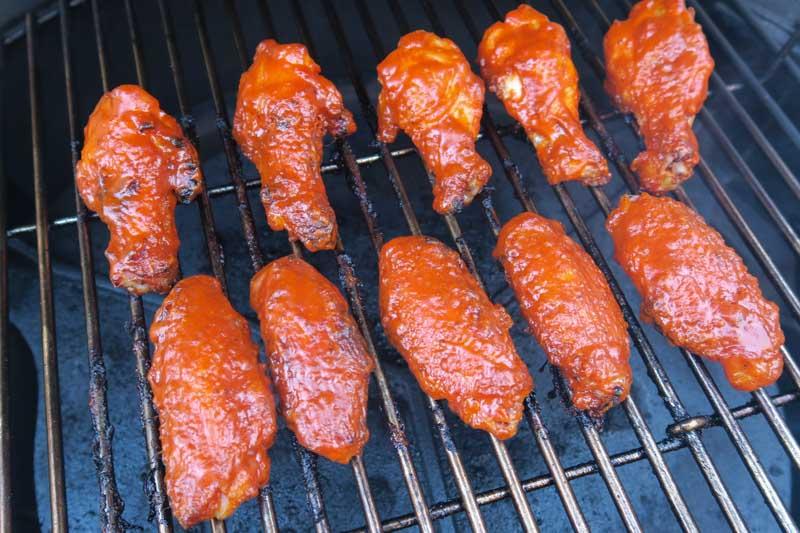 Koreaanse kippenvleugels - op de barbecue