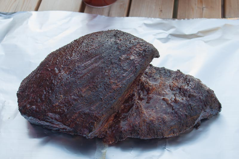 Hot and fast brisket - inpakken