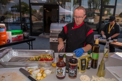 Celebrity Chef Phillip Dell at the Back to Basics Grilling Class at BBQ Concepts of Las Vegas, Nevada