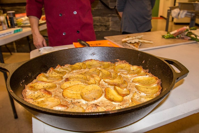 Garlic Herb Skillet Potato Cake by Chef Phillip Dell
