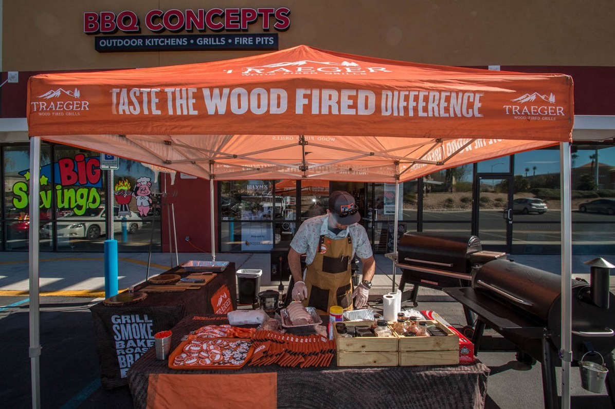 Traeger Wood Pellet Grill Demonstration at BBQ Concepts of Las Vegas, Nevada