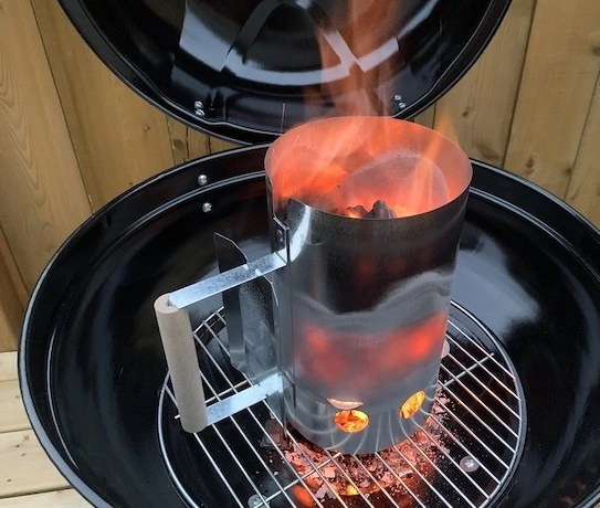 how to use a chimney starter charcoal