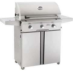 Outdoor Kitchen With Freestanding Grill White Furniture American Grills L Series 30