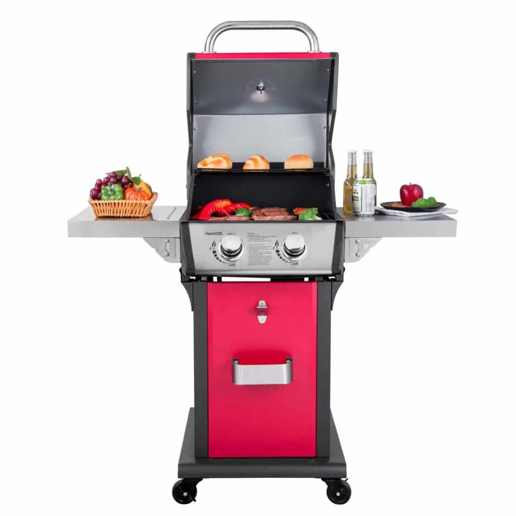 royal gourmet cabinet patio propane gas grill 2 burner red