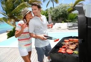 An Outdoor Kitchen Grill Is Perfect For Those Who Love To Cook And Entertain