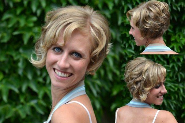 Festliche Frisur Kinnlanges Haar