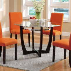 Orange Dining Chairs Uk Ethan Allen Wingback Round Table Brokeasshome