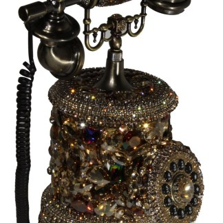 Antique Phone with Swarovski Crystal design