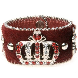 B.B.SIMON CUFF-D53-C55-CLEAR-RED-SF