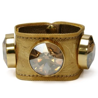 B.B.SIMON CUFF-D63-GOLD MESH-GOLDEN SHADOW-GF