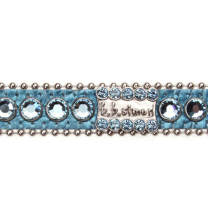 B.B.SIMON DOG Bailey Aquamarine Dog Cat Pet Collar