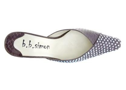 B.B.SIMON SHOES 7463-Purple-AB Swarovski Womens Pumps