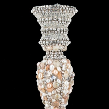 CDH-206 bb Simon Swarovskii crystal Candle holder